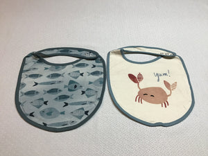 Bib Yum Fish & Crab  set of 2