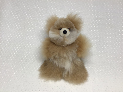 "ALPACA TEDDY BEAR  tan/white 8""*"