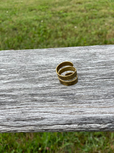 Ring Hammered Brass ~ Maine Made Jewelry
