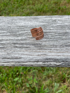 Ring Hammered Copper Maine Made Jewelry