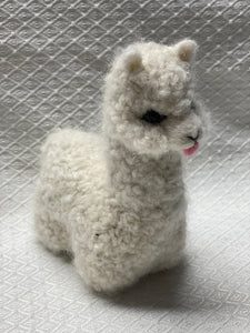 "ALPACA FIGURE stuffed white 6""*"