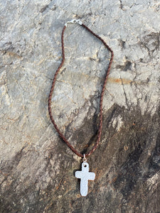 Necklace Rustic Cross   Maine Made Jewelry