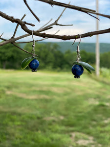 Earrings Blueberry Stone   Maine Made Jewelry