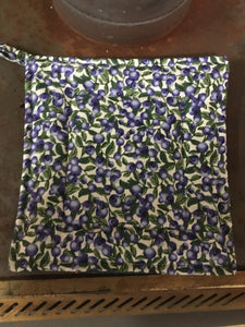 Potholder Blueberry  / large blueberry on white