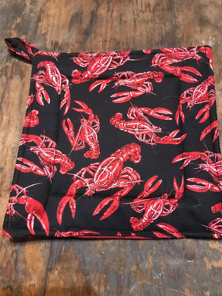 Potholder Lobster   black