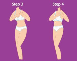 how to put a bra on step 3 and 4