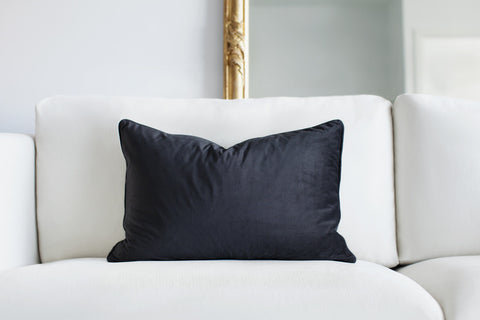 Luxe and Beau - Black velvet cushion