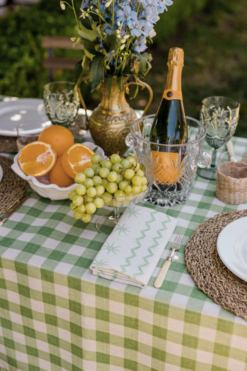 Green Check Tablecloth