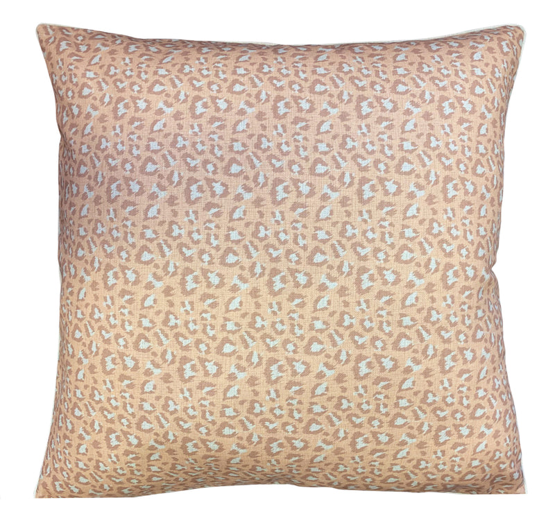 PERSIAN LEOPARD NUDE CUSHION 90X90CM - Luxe and Beau Designs