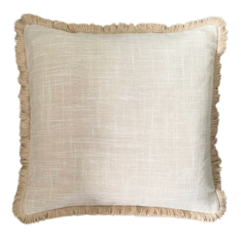 Natural Linen with Fringe