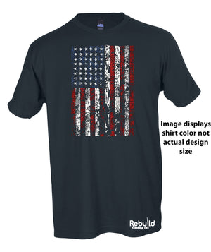 American Flag Distressed Stamped Shirt