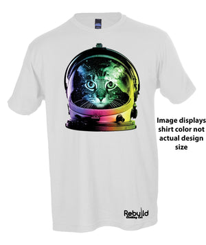 Space Cat Stamped Shirt