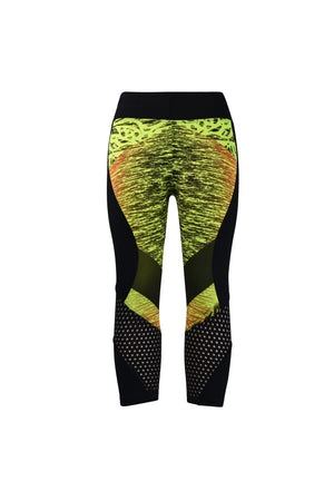Fashion Ladies Black and Red/Green with design Leggings mesh dots Panels Stretchy yoga and workout