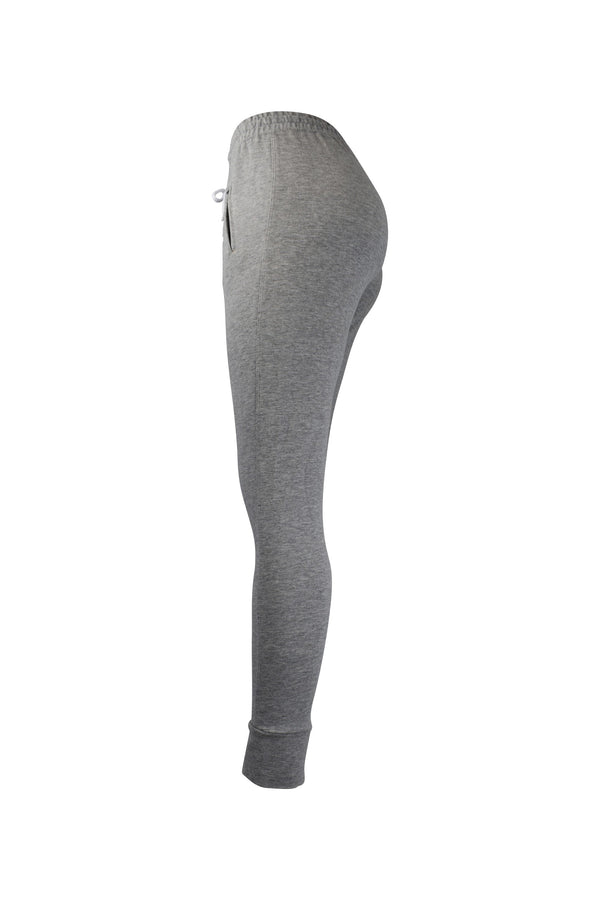 Fashion Ladies Gray Jogger/Leggings With Zipper Pockets yoga and workout