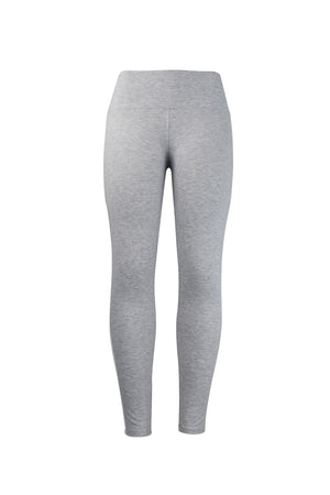 Fashion Ladies Gray Leggings with white stripes yoga and workout