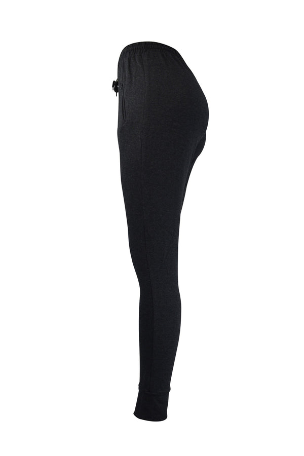 Fashion Ladies Charcoal Jogger/Leggings With Zipper Pockets yoga and workout