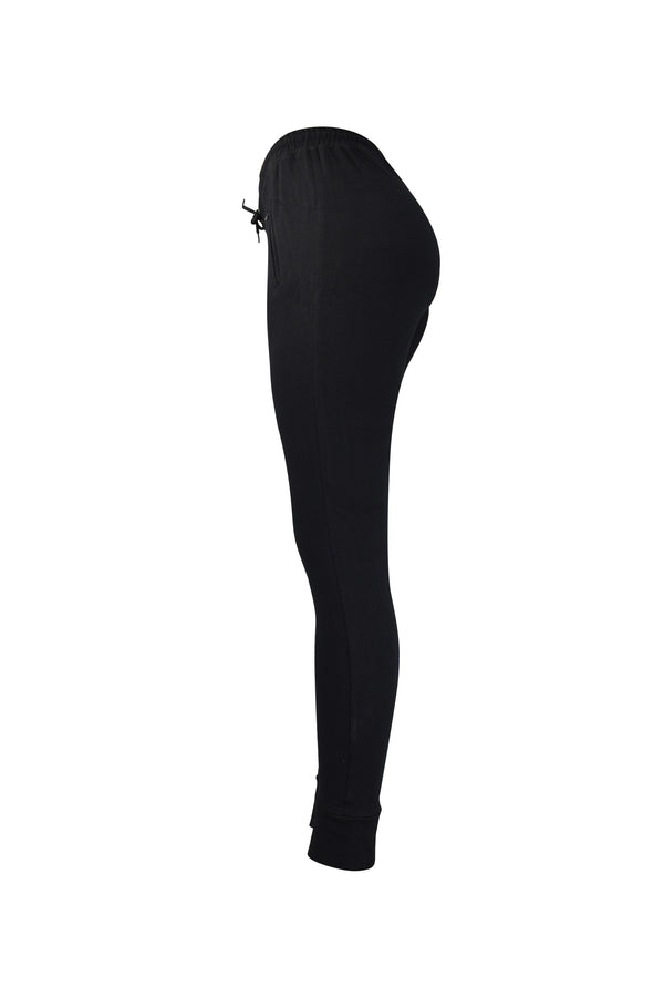 Fashion Ladies Black Jogger/Leggings With Zipper Pockets yoga and workout