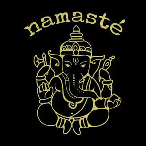 Gold design Lord Ganesh Namastè Stamped Shirt