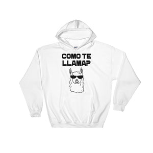 COMO TE LLAMA Custom black design Hooded Sweatshirt Unisex