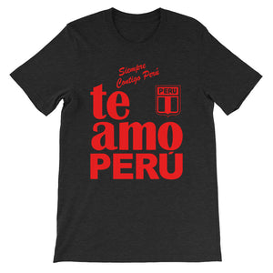 Te Amo Peru custom shirt red letters Short-Sleeve Unisex T-Shirt