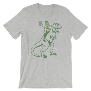 Leprechaun riding Dino funny Custom Short-Sleeve Unisex T-Shirt