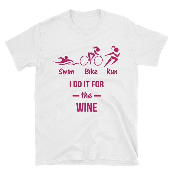 Ladies Swim Bike Run training custom Short-Sleeve Unisex T-Shirt