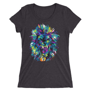 Ladies' Lion custom design short sleeve t-shirt