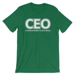 CEO definition with a bold description Custom Short-Sleeve Unisex T-Shirt