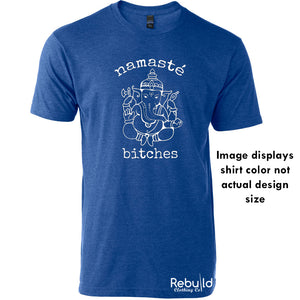 White design Lord Ganesh Namastè Bitches Stamped Shirt