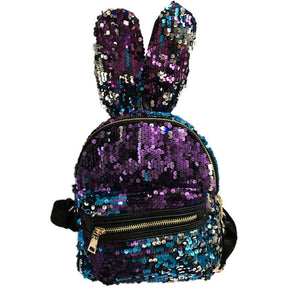 Fashion bunny ears Ladies backpack designer Sequins