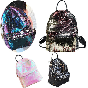 Fashion Shiny Sequins Paillette Backpack for Casual or Outdoor Sport Hiking for Ladies