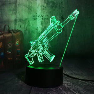 Gaming Royale 7 Color LED Night Light Desk Lamp RGB