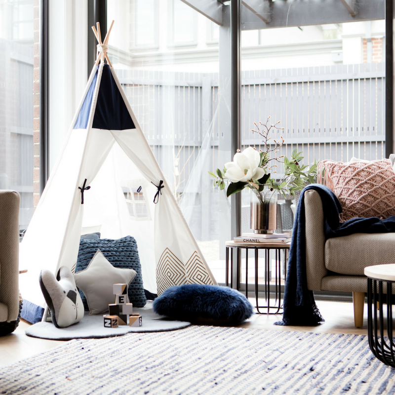 How to style your Navy Blue Teepee