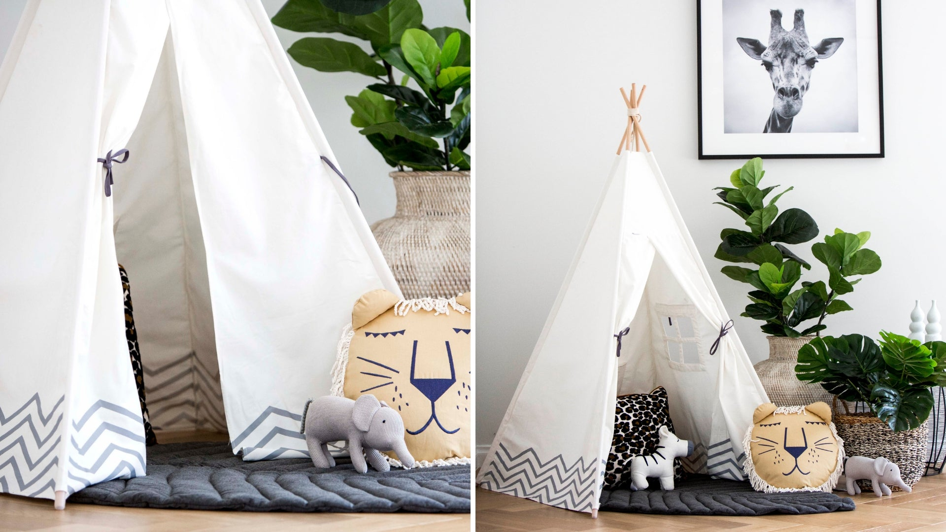 Cattywampus Pearly Moon Opal Leaf Gift set for Birthday present white teepee tent