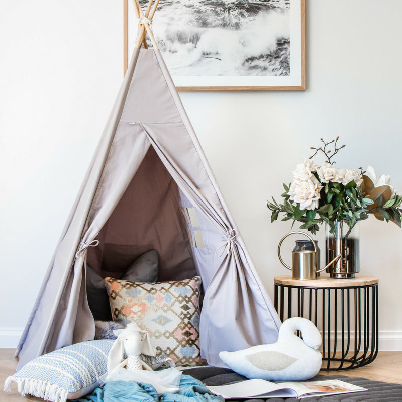 Kids first birthday gift idea kids teepee tent play buy now Grey
