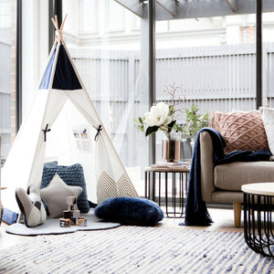 Blue Teepee Tent for boys first birthday present gift cattywampus