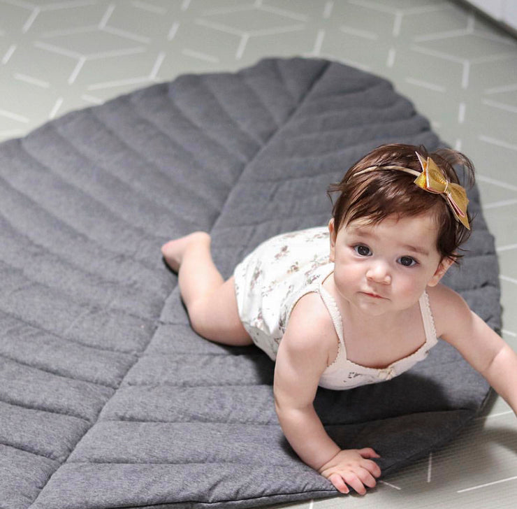 Leaf Cotton Play Mat | Grey | Pre Order