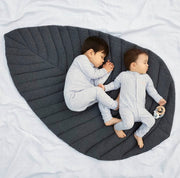 Leaf Cotton Play Mat | Grey