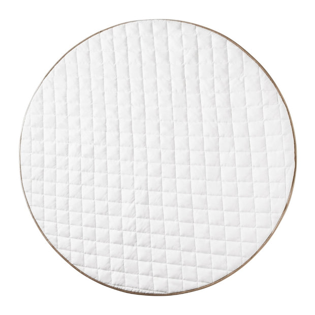 Quilted Cotton Play Mat | Whisper White | Pre Order