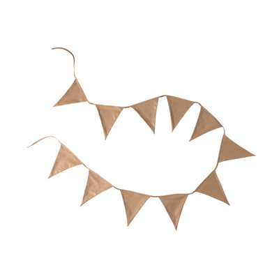 Cattywampus Kids Flag Garland Bunting Accessory for kids room decor - Tan