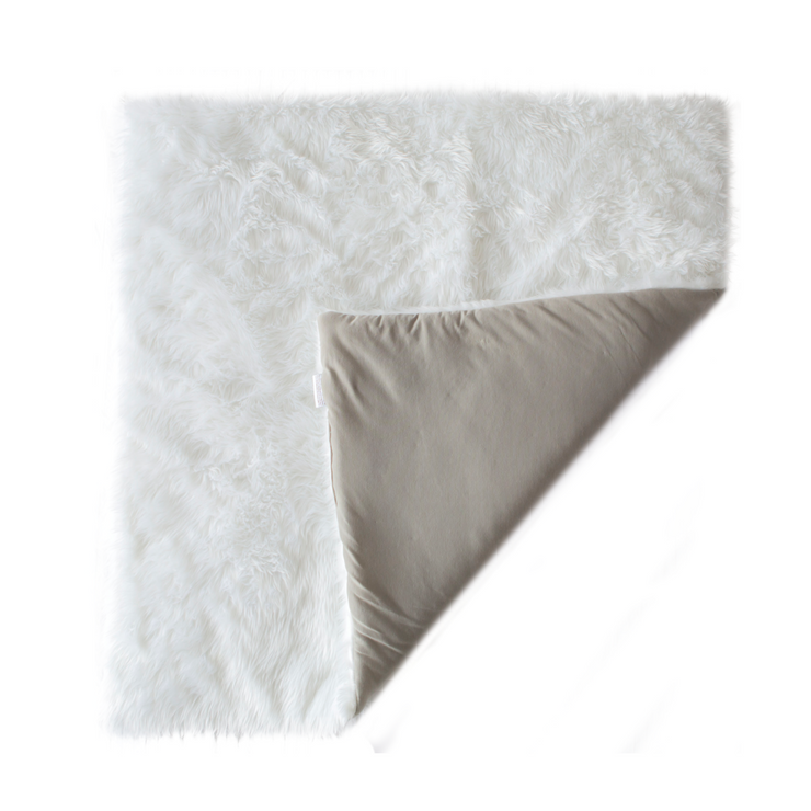 Fluffy Cotton Play Mat | Grey & White