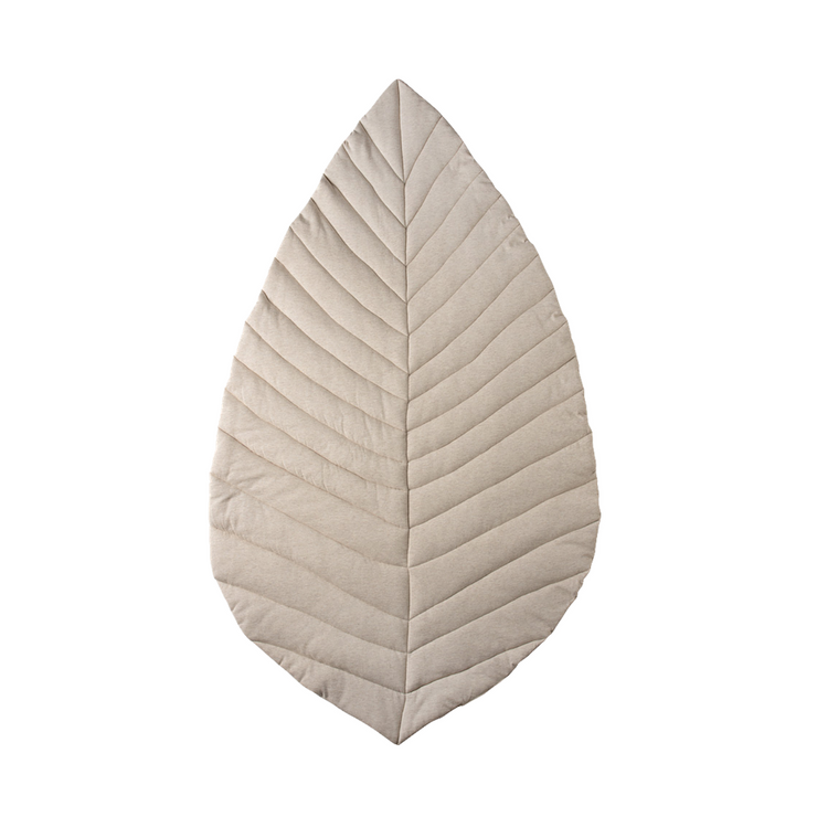 Cattywampus oat natural oatmeal leaf playmat quilted cotton jersey with soft filling
