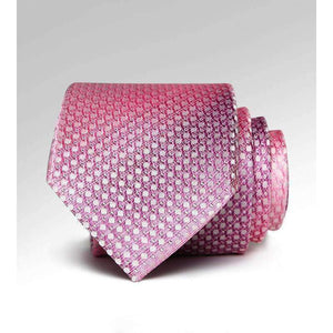 Menss Ties New 7Cm Necktie Luxury Wedding Pink Silver Line Jacquard Woven Paisley