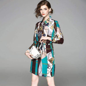 Silk Shirt Dress-[product_tag]-My MALL Metro