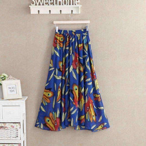Womens Floral Print Long Skirt-[product_tag]-My MALL Metro