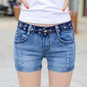 Womens Ripped Shorts-[product_tag]-My MALL Metro