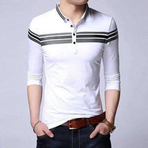 Mens Turn-Down Collar Cotton Shirt-[product_tag]-My MALL Metro