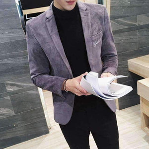 Mens Blazer Suit Slim Fit Design Corduroy Suit Blazer-[product_tag]-My MALL Metro