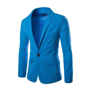 Mens Blazers Cotton Coats Slim Fit Mens Dress Suit Jackets Blazers Plus-Size-[product_tag]-My MALL Metro