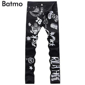 Print Drawing Pattern Jeans-[product_tag]-My MALL Metro
